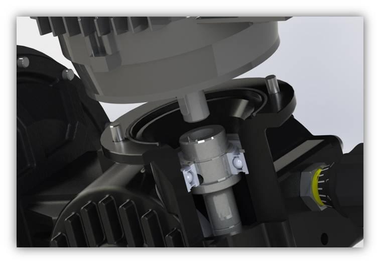 uložení motoru dávkovacího čerpadla OBL řady M a R