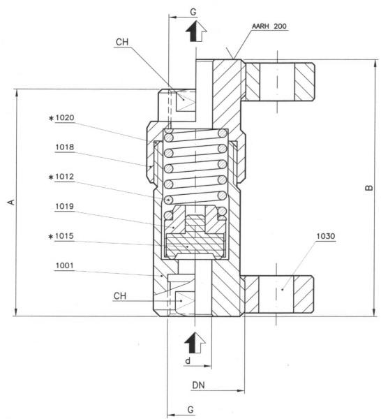 pojistný ventil V.200