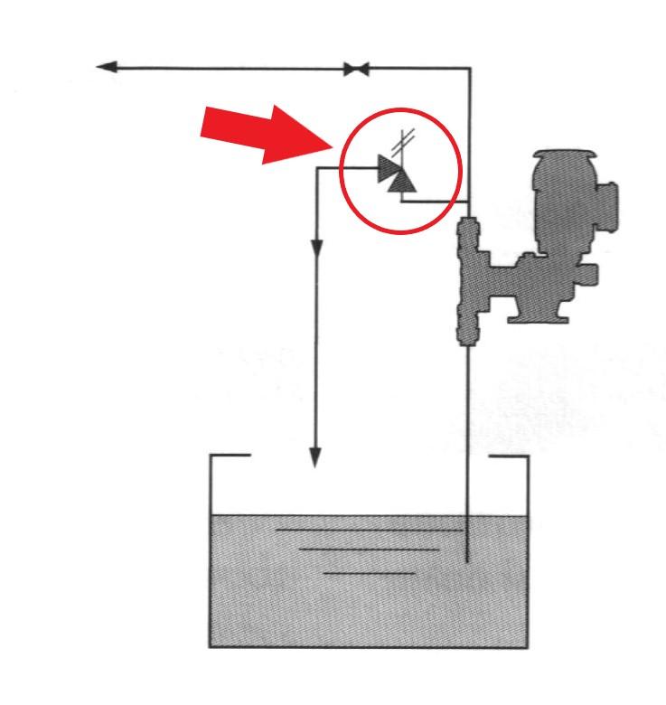 instalace pojistného ventilu