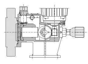schématický řez čerpadlem OBL řada XRN