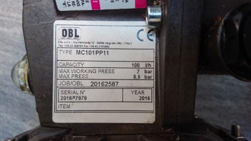štítek čerpadla OBL