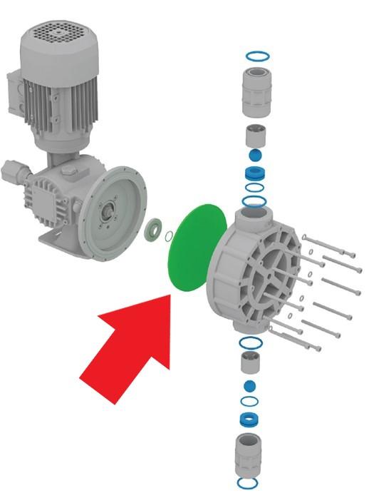 membrána dávkovacího čerpadla OBL série M, MB, MC, MD, MRB, MRC, MRD