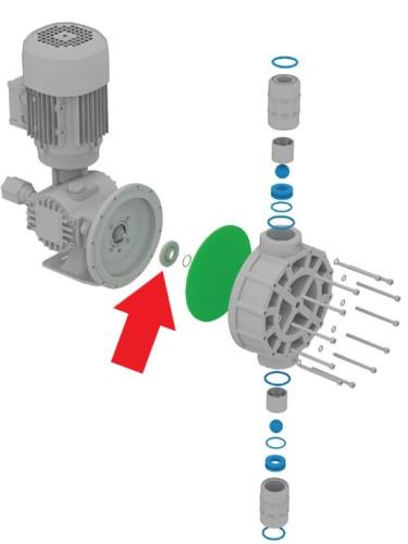 těsnění posuvové tyče dávkovacího čerpadla OBL série M
