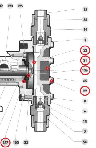 výměna těsnění posuvové tyče dávkovacího čerpadla OBL série M