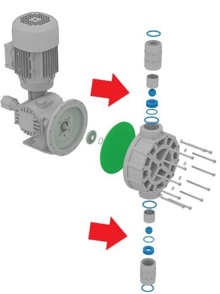konrtola, čištění a výměna zpětných ventilů čerpadla OBL