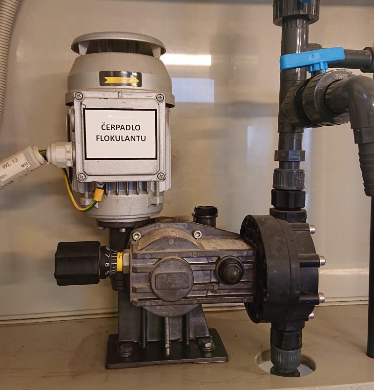 dávkovací čerpadlo OBL série MB - flokulant - čistírna odpadních vod