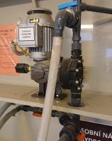 dávkovací čerpadlo OBL série MB - dávkování NaOH - čistírna odpadních vod