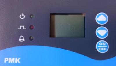 displej dávkovacího čerpadla PMK