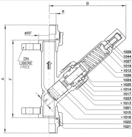 řez přetlakovým pojistným ventilem V300