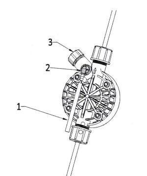 připojení odvdušňovací hadičky dávkovacího čerpadla
