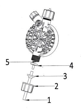 připojení sací hadičky dávkovacího čerpadla