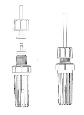 připojení sacího koše dávkovacího čerpadla