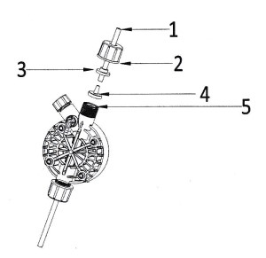 připojení výtlačné hadičky dávkovacího čerpadla