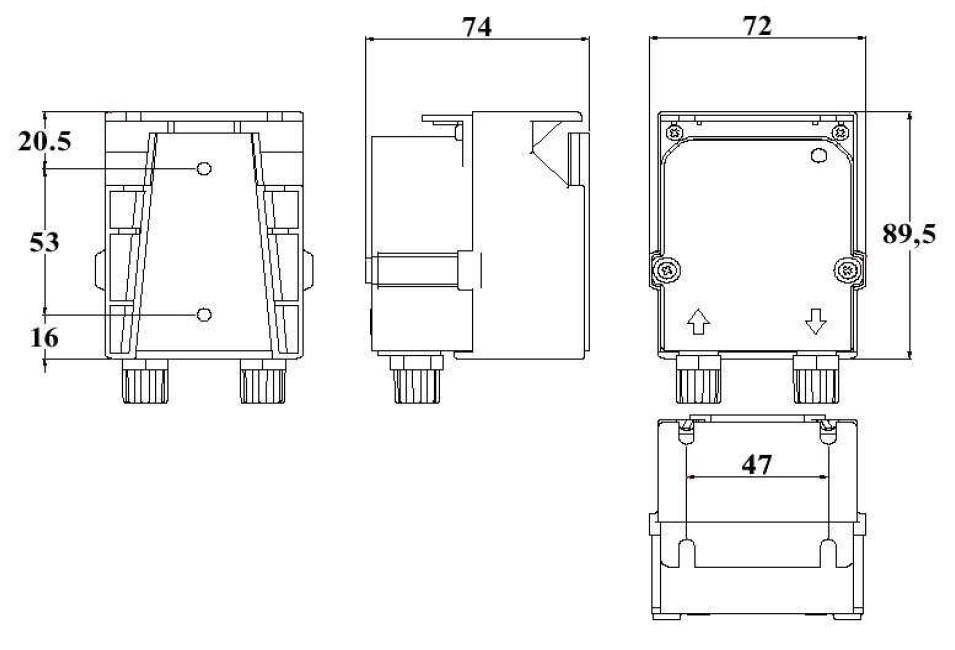 rozměry peristaltického čerpadla IPS3 BOX