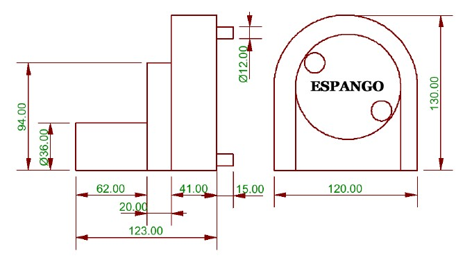 rozměry peristaltického čerpadla IPS200